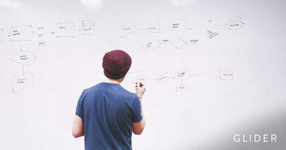 A young professional writing on a white board with a marker (iOS Developer Interview Questions)